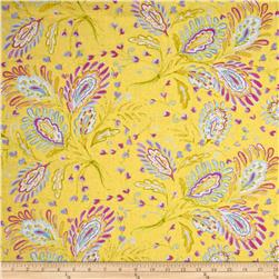 Dena Designs Home Décor Linen Blend Sunshine Heather Yellow