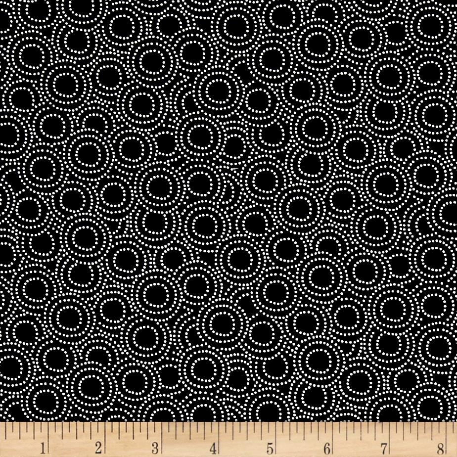 Monochrome Circles Black