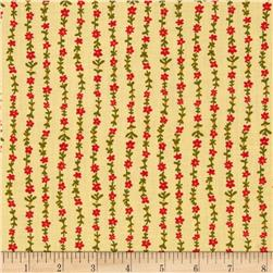 Floral Vines Cream Fabric