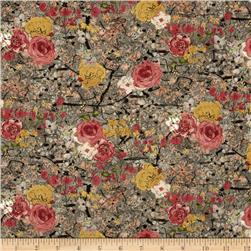 Dream Blossom Metallic Packed Floral Antique/Gold