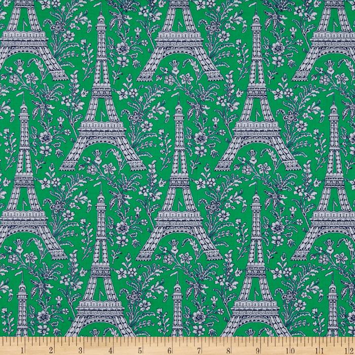 Michael Miller Eiffel Tower Collection Turf Green