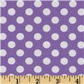 Kaufman Spot On Medium Dot Violet