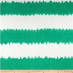 Stretch Rayon Jersey Knit Tie-Dyed Green/White Fabric