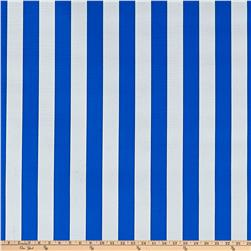 Oil Cloth Stripes Blue Fabric