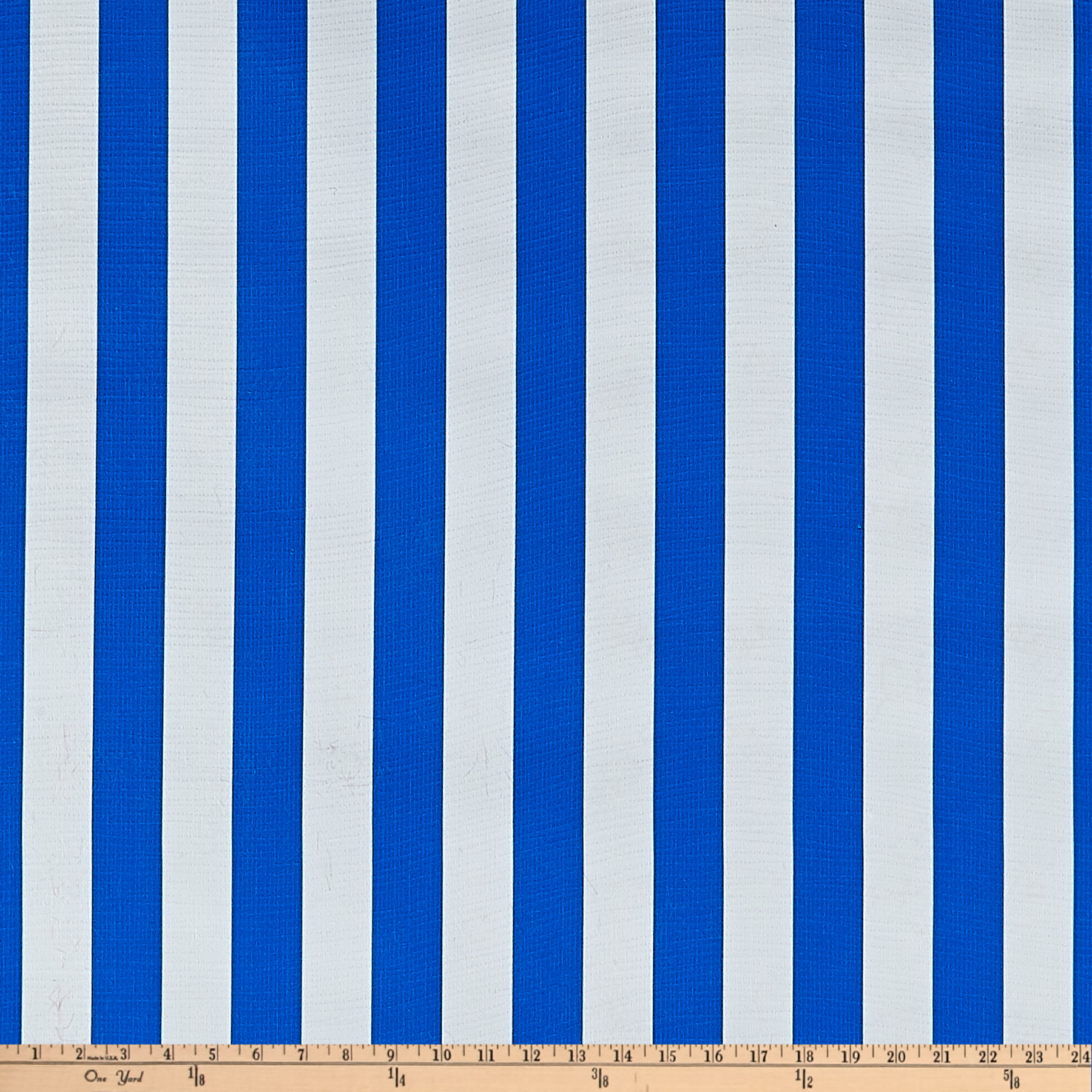 Oilcloth Stripes Blue Fabric by Oilcloth International in USA