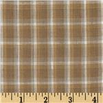 Yarn-Dyed Plaid Shirting Tan