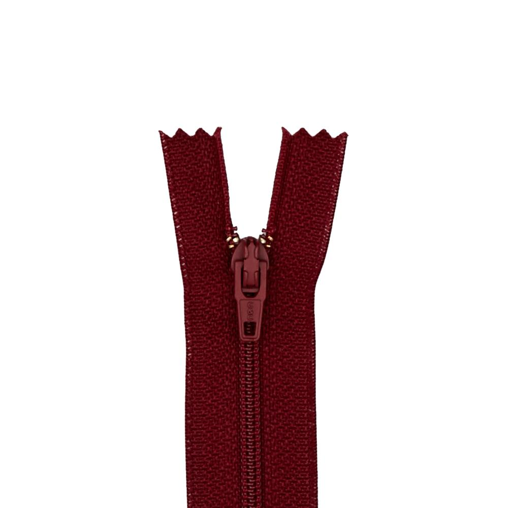 """Coats & Clark Poly All Purpose Zipper 24"""" Barberry Red"""