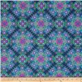 Treasures of Nature Under the Sea Collage Teal/Pink