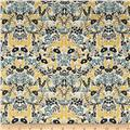 Cotton + Steel Rifle Paper Co. Menagerie Tapestry Metallic Natural