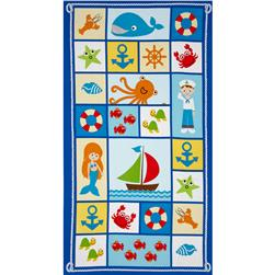 Seaside Holiday Seaside Panel White