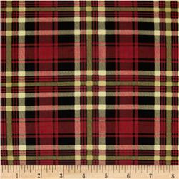 My True Love Gave to Me Plaid Red