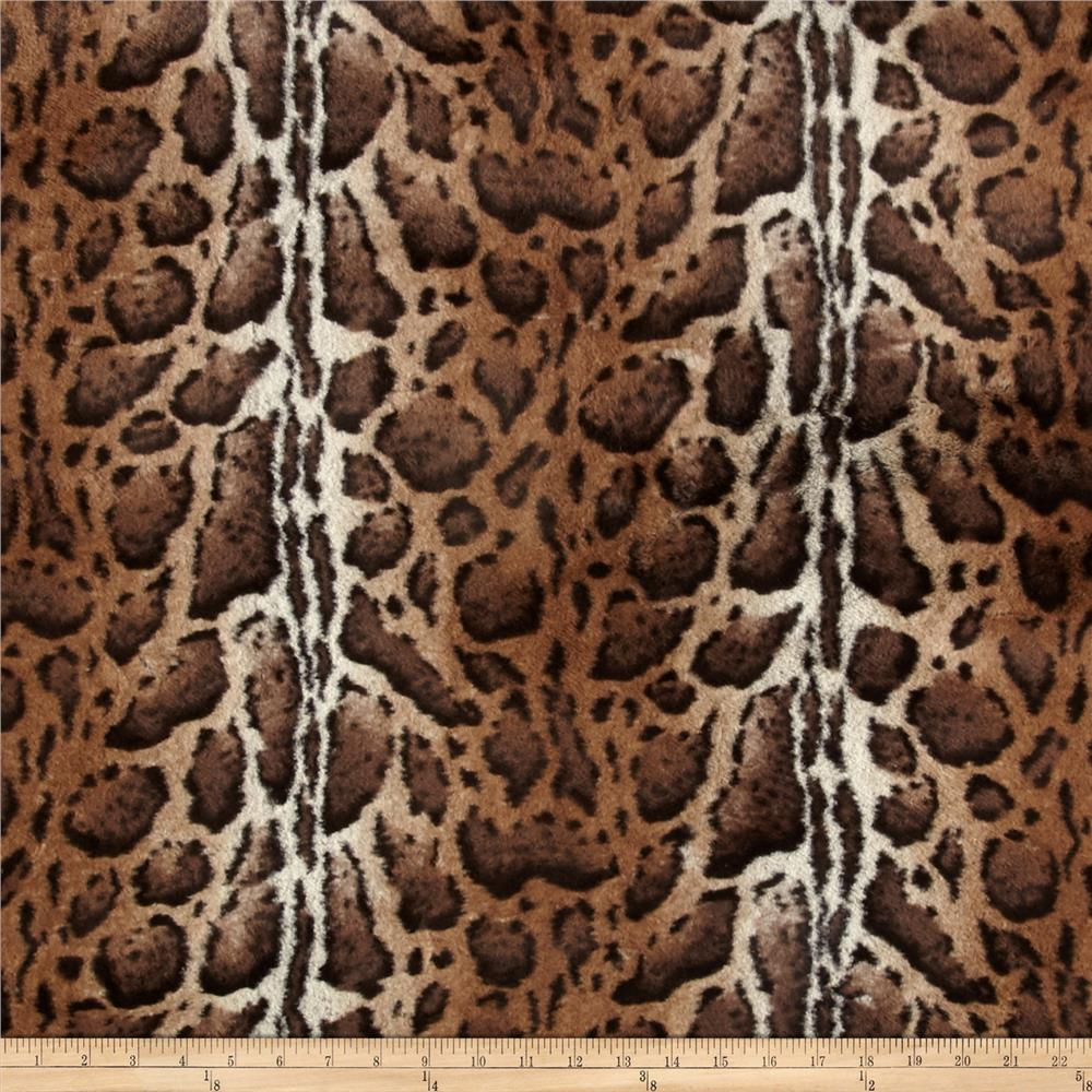 Tissavel Luxury Faux Fur Burmese Leopard Cocoa