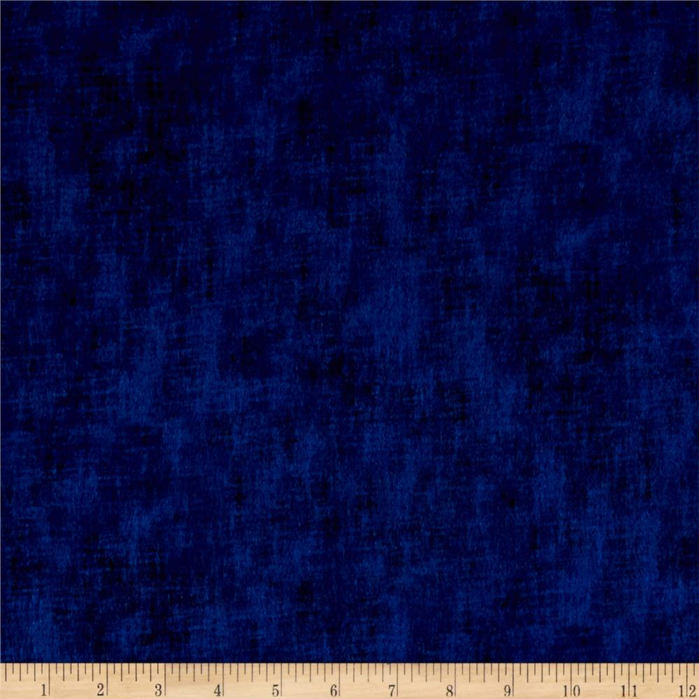 Timeless Treasures Flannel Studio Texture Navy Fabric