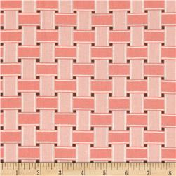 Linen/Cotton Blend Folly Weave Coral Sand