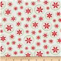 Poinsettia Circles White/Red