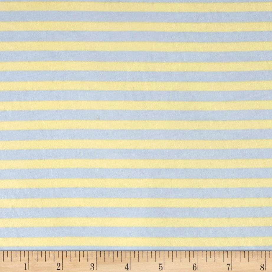 Kaufman Blake Cotton Jersey Knit Stripe Blue