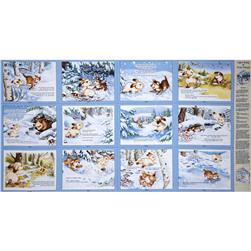 "Quiet Bunny & Noisy Puppy 36"" Soft Book Panel Multi"