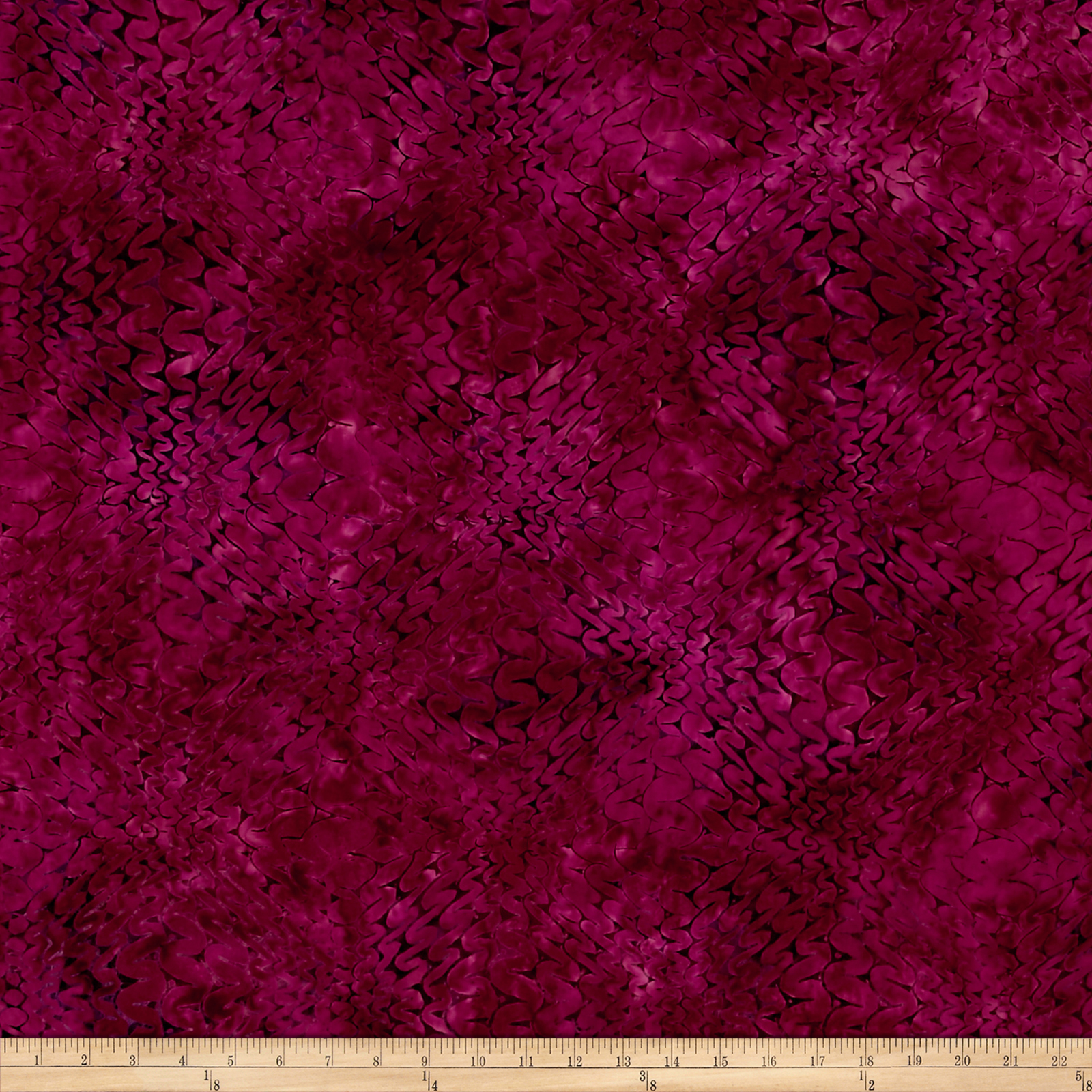 Malam Batiks Squiggle Wave Magenta Fabric by RJR in USA