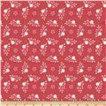 Riley Blake Raspberry Parlour Floral Red