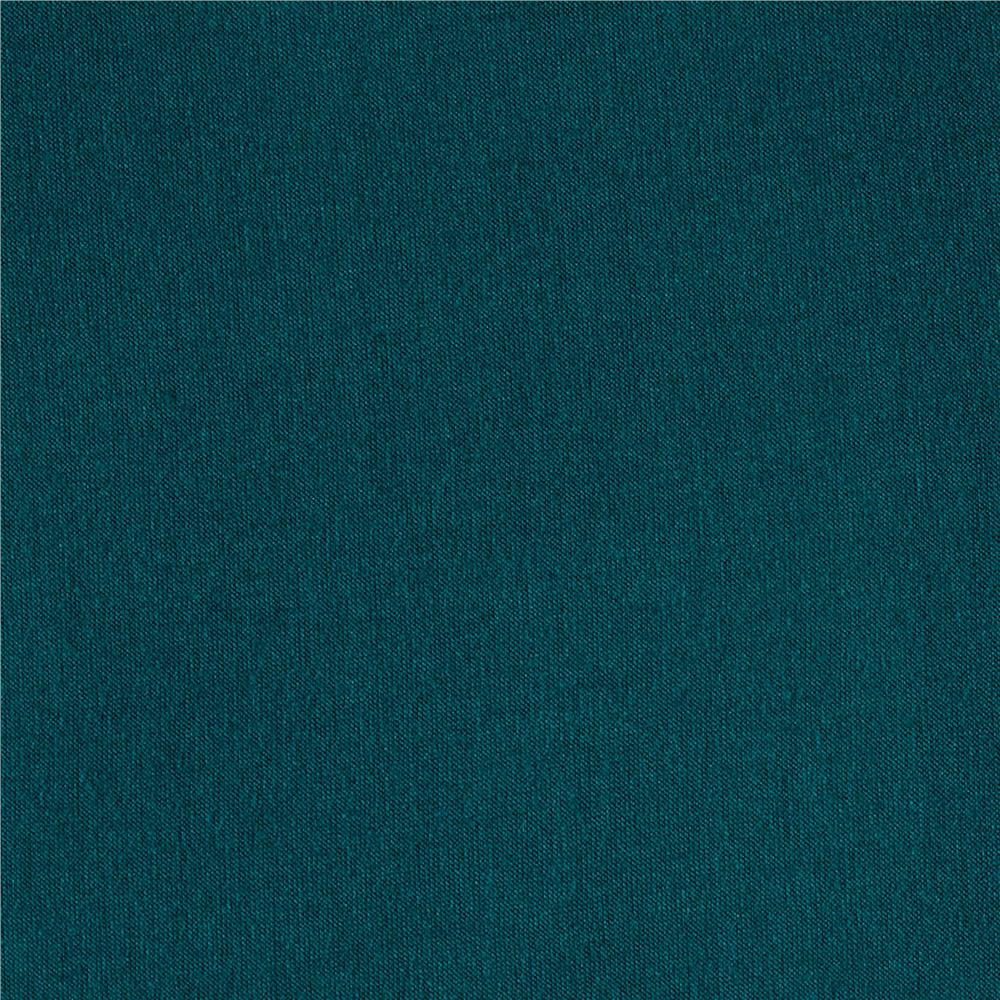 Designer Tri-Blend Jersey Knit Solid Teal Fabric By The Yard