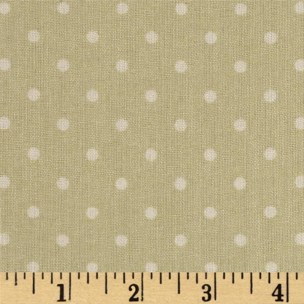 Stonehill Collection Rambling Rose Dots Olive/White