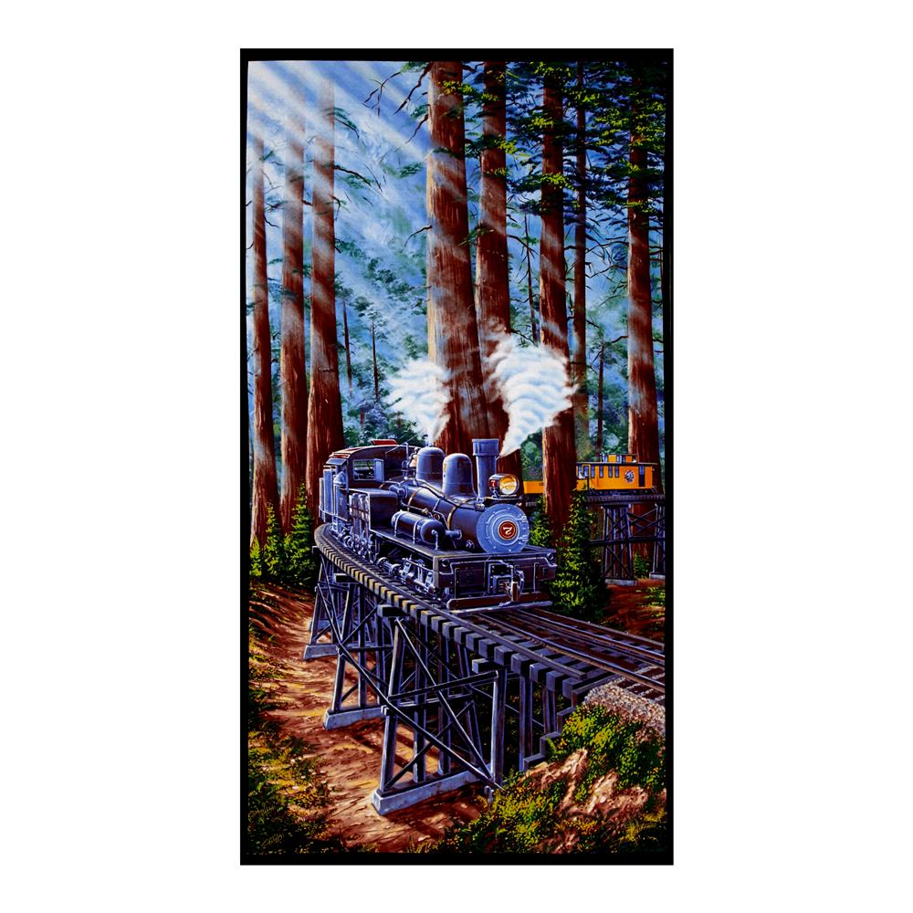 Redwood Express Train 23'' Panel Fabric