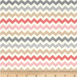 Timeless Treasures Ziggy Small Chevron Cupcake Multi