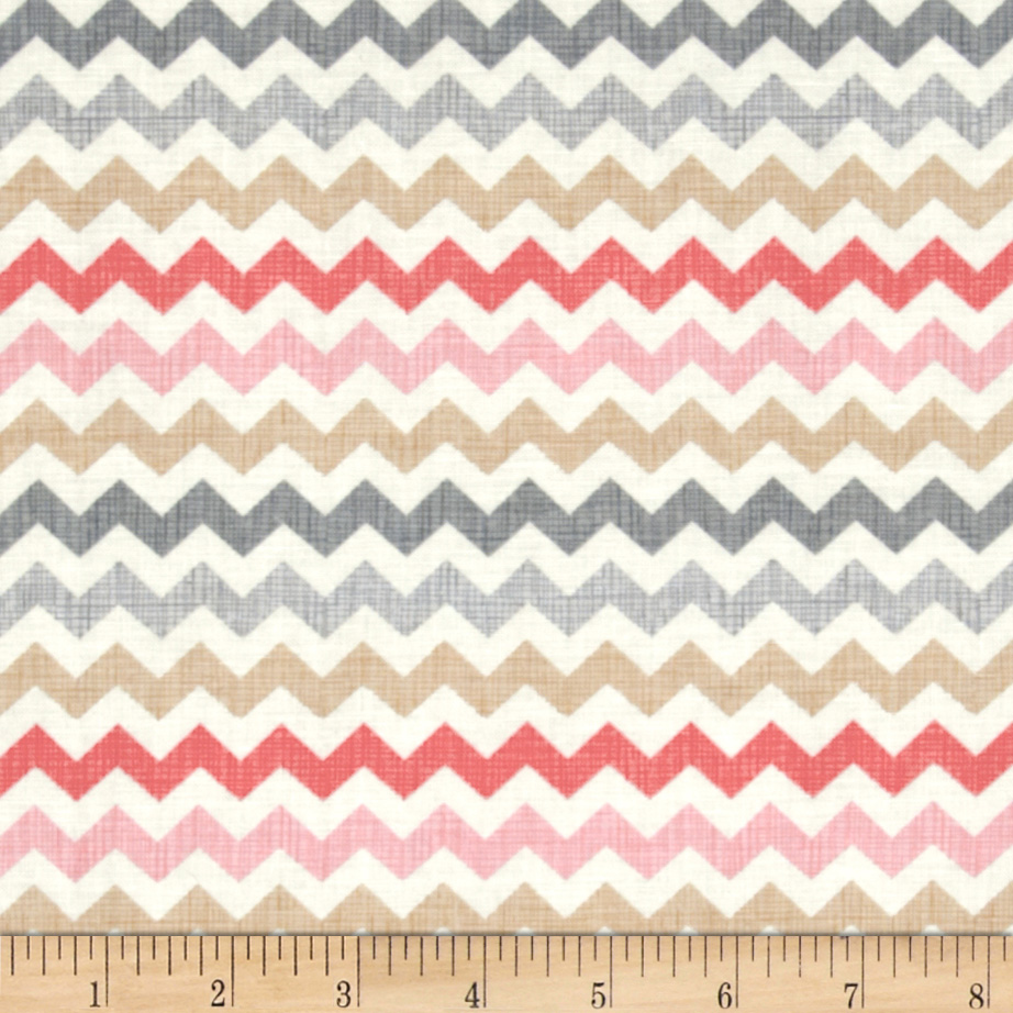Timeless Treasures Ziggy Small Chevron Cupcake Multi Fabric