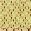 Prairie Home and Companions Oval Dots Cream/Gold