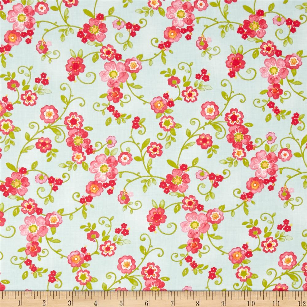 Moda Collette Floral Flourish Sky