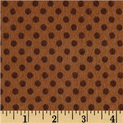 Riley Blake Hooty Hoot Returns Flannel Dots Brown