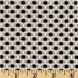 Candy Jacquard Dots Black Fabric