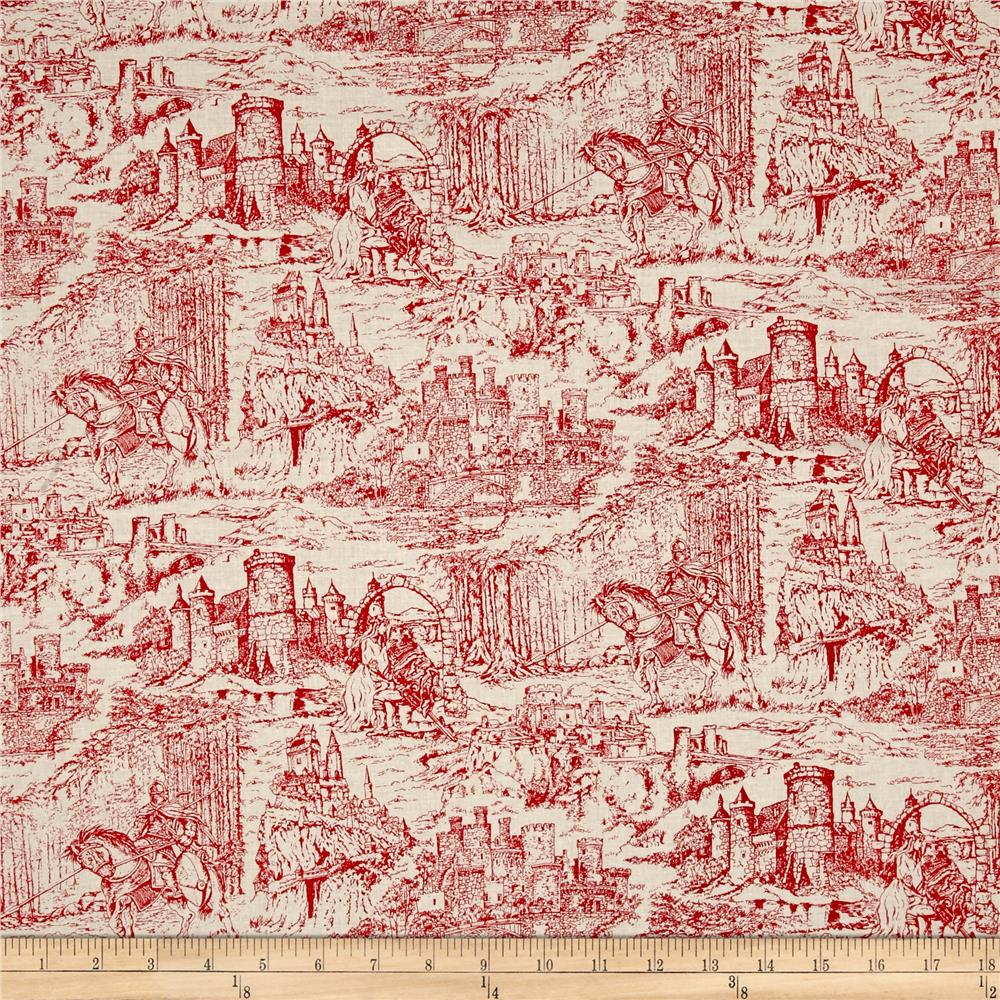 Through the Ages Toile Red
