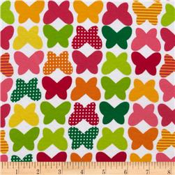 Kaufman Laguna Stretch Jersey Knit Butterflies Citrus Fabric