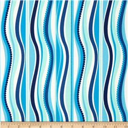Terrasol Indoor/Outdoor Wave Navy Fabric