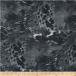 Chiffon Print Waves Black/Grey