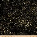 Moda Modern Backgrounds Luster Metallic Cloth Pattern Black