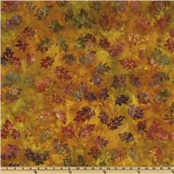 Artisan Batik Cornucopia 4 Leaves Small Harvest Gold