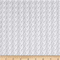 Minky Embossed Houndstooth Snow