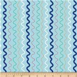 Riley Blake In The Ocean Stripes Blue Fabric