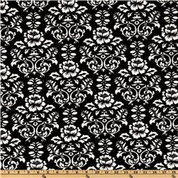 Kaufman Minky Cuddle Victorian Damask Black/White