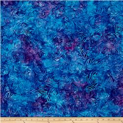 Kaufman Artisan Batiks Fancy Feathers Spray Violet