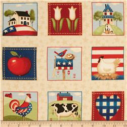 From the Heartland Patriotic Patchwork Tan