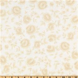 108'' Flourish Quilt Backing Washed Roses Cream/Tan