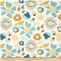 Riley Blake Lost and Found 2 Floral Aqua
