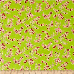 Moda Little Ruby Little Lady Green