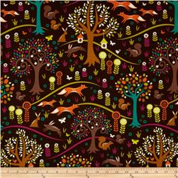Michael Miller Norwegian Woods Too Foxtrot Jewel Fabric