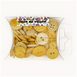 Dress It Up Color Me Collection Pillow Pack Buttons Yellow