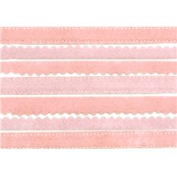 Martha Stewart Crafts Sticker Borders Felt Pink 12""