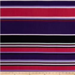 ITY Jersey Knit Stripe Purple/Black/Fuschia